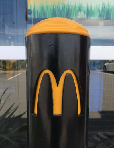 bollard by Bollards Direct with a McDonalds logo